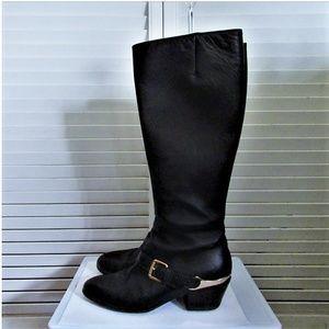 L'Autre Chose black leather boots 37 1/2